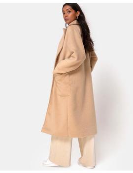 Duster Coat In Woven Tan By Motel by Motel