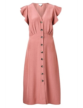Frill Button Dress by Witchery