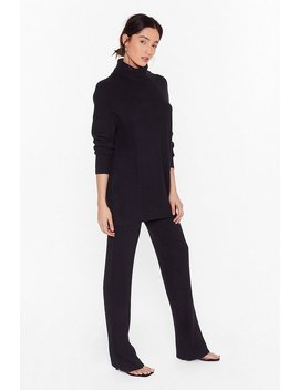All Together Now Knitted Turtleneck Jumper And Trousers Set by Nasty Gal