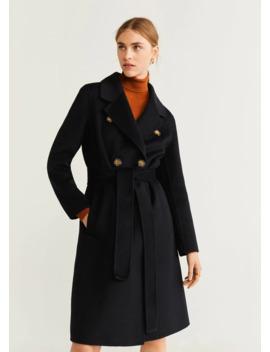 Структурированное пальто из шерсти by Mango