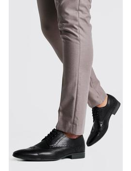 Faux Leather Brogue Shoes by Boohoo