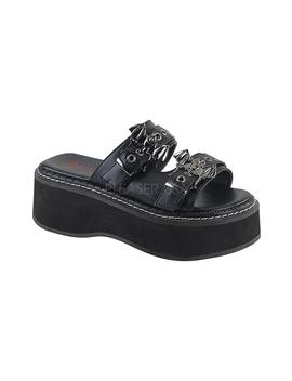 Emily 100 | Black Vegan Leather [Preorder] by Demonia Shoes
