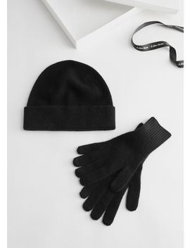 Cashmere Beanie And Gloves Gift Box by & Other Stories