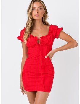 The Kipp Mini Dress Red by Princess Polly