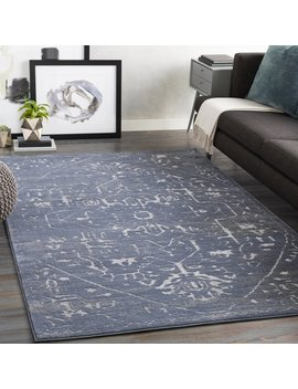 Mager Traditional Navy/Ivory Area Rug by Allmodern