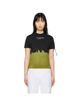 Black & Green Bleached T Shirt by Ottolinger