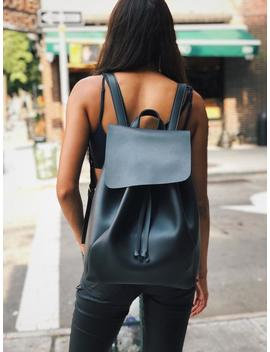 Black Leather Backpack, Leather Backpack, Black Backpack,Bucket Backpack, Vegan Leather, Street Backpack, School Backpack, Shoulder Bag by Etsy