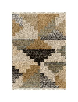 Damon Blocks Beige Area Rug by Allmodern