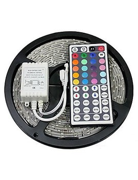 Zdm 5 M 300 X 5050 10mm Rgb Led Strips Light Flexible And Ir 44 Key Remote Control Linkable Self Adhesive Color Changing  #04939262 by Lightinthebox