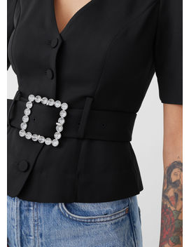 Belted Puff Shoulder Blouse by & Other Stories