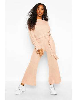 Knitted Trouser & Jumper Co Ord by Boohoo