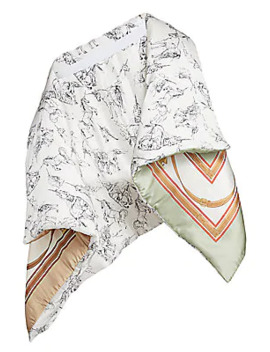 Bromley Wadded Silk Cape by Burberry