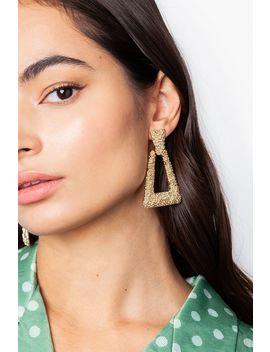 **Foil Door Knocker Earrings by Topshop