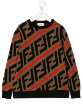 Knitted Ff Sweater by Fendi Kids