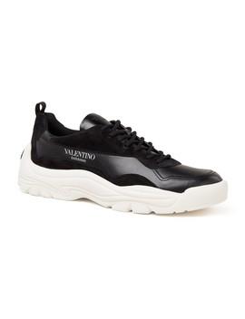 Gumboy Sneaker Van Kalfsleer En Kalfsuède by Valentino