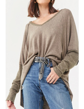 Brushed Ribbed Trim Top by Forever 21