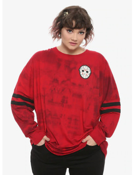 Friday The 13th Jason Voorhees Girls Athletic Jersey Plus Size by Hot Topic