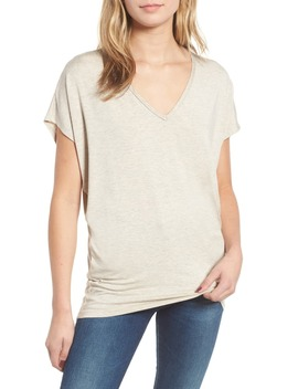 'mayr' V Neck Tee by Amour Vert