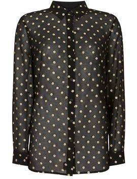 Black & Gold Spot Shirt by Mint Velvet