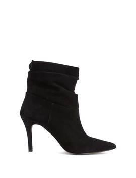 Anya Black Suede Slouchy Boots by Mint Velvet