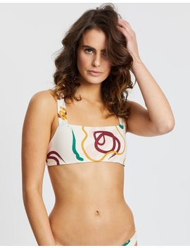 Henley Crop Bikini Top by Skye & Staghorn