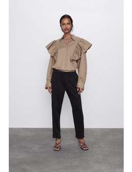Spodnie Z GumkĄ W Pasie by Zara