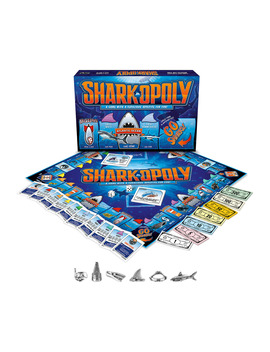 Late For The Sky Shark Opoly Board Game by Late For The Sky