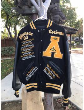Vintage Leather Wool Varsity Jacket Made In Usa Medium by Vintage  ×  Varsity  ×  Varsity Jacket  ×