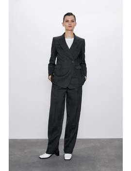 Pantaloni Dritti In Lana by Zara