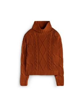 Tan Roll Neck Chunky Sweater by Primark