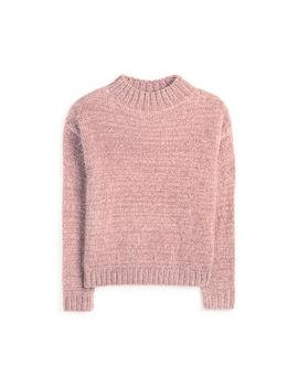 Pink Chenille Mock Neck Sweater by Primark