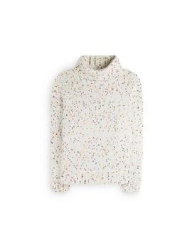 White Mixed Knit Sweater by Primark