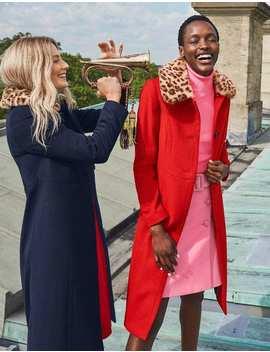 Austen Coat   Red by Boden