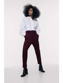 Pantalon À Ceinture Tout Voir Pantalons Femme by Zara