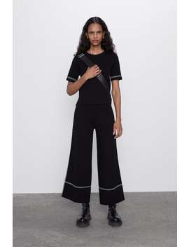 Pantaloni Con Bordino A Contrasto by Zara