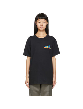 Black Connected Logo T Shirt by Noah Nyc