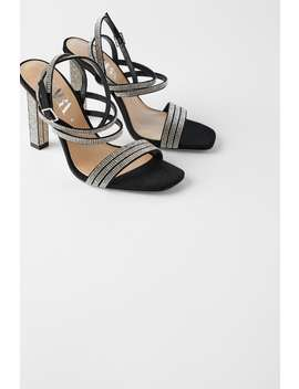 Rhinestone AppliquÉd High Heel Sandals by Zara