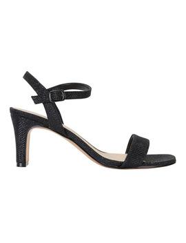Unison Black Shimmer Sandal by Easy Steps