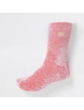 Black Mesh Polka Dot Ankle Socks by River Island