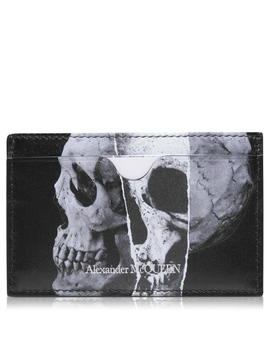 Skull Print Card Holder by Alexander Mcqueen
