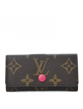 Louis Vuitton Monogram 4 Key Multicles Holder Hot Pink by Louis Vuitton