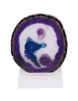 Jau Sculpture In Purple And Gold Stone By Curated Kravet by 1 Stdibs