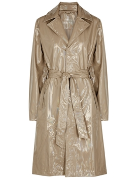 Camel Holographic Raincoat by Rains