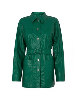 Victoria Green Faux Leather Jacket by Kitri