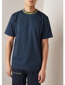 Erib T Shirt Van Katoen Met Logokraag  by Daily Paper