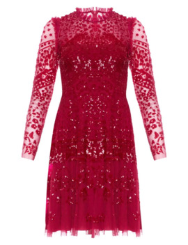 Aurora Sequin Lace Sheath Dress by Needle & Thread