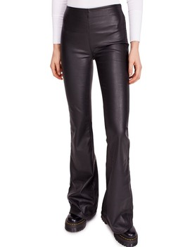 Penny Pull On Flared Vegan Leather Pants by Free People