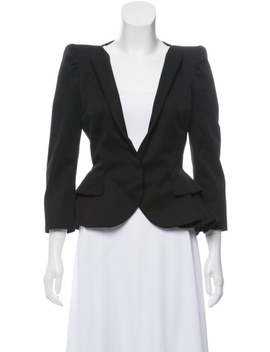 Structured Collarless Blazer by Alexander Mc Queen