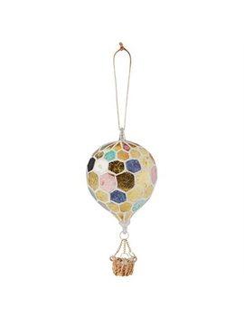 Glitterville® Balloon Glass Ornament – Blue by Glitterville