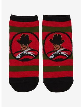 A Nightmare On Elm Street Freddy Sweater No Show Socks by Hot Topic